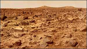 Twin peaks: The Martian landscape captured by Pathfinder