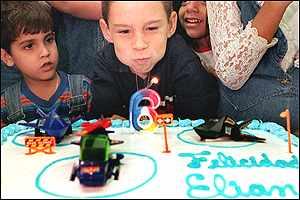 Elian Gonzalez celebrates his sixth birthday