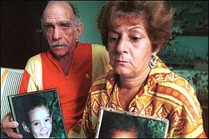 Elian's grandparents show pictures of him