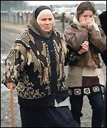 refugees flee Chechnya