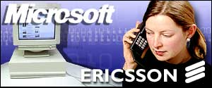 Microsoft and Ericsson logos