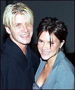 Beckham and Victoria Adams