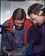 Examining the ice core