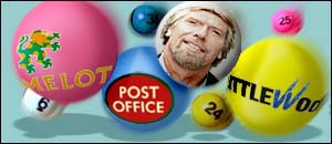 Richard Branson and lottery balls