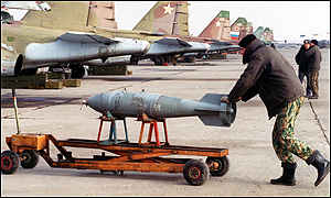 Bombs being loaded
