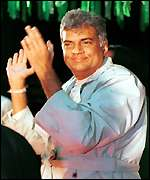 Ranil Wickremesinghe at a campaign rally