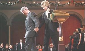 The Clintons at a Christmas event in Washington