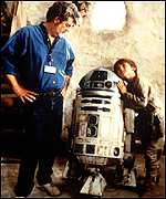 George Lucas and R2-D2