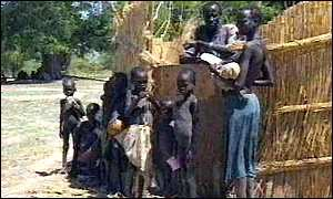 Sudanese women and children