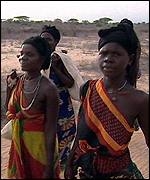 Somali women walking