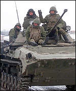 About 100,000 Russian troops are in the Grozny region