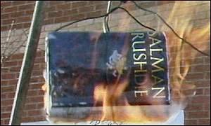 The Satanic Verses burning