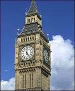 The clock of the Houses of Parliament