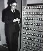 Maurice Wilkes with Edsac