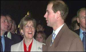Prince Edward and his wife
