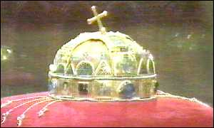 The holy crown of St Stephen