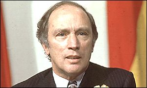 Pierre Trudeau pictured in 1977