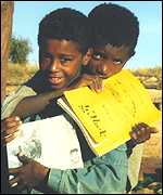 Boys in Tigray, Ethiopia