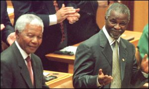 Nelson Mandela and Thabo Mbeki