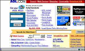 AOL screen grab