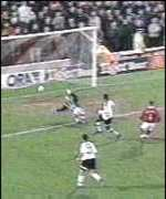 [ image: Andy Cole scores United's second]