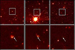 image: [ Hubble pinpoints distant supernovae ]