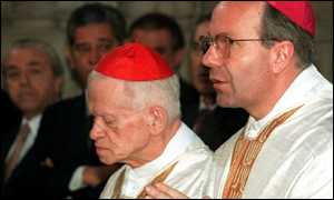 image: [ Disgraced former Austrian church leader  Gr�er, (L), with successor Christoph Schoenborn ]