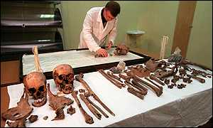 image: [ The remains have been examined by international scientists. ]