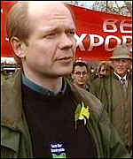 [ image: Tory leader William Hague joined the marchers]