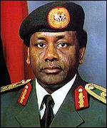 [ image: Abacha: pledge to restore democracy in doubt]