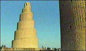 image: [ The ancient mosque of Samarra: its preservation is important for Iraq's identity ]