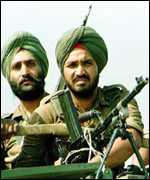Indian soldiers on patrol in 1992