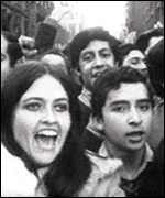 Allende supporters in the 1970s