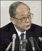 [ image: Governor of the Bank of Japan, Yasuo Matsushita: accepts responsibility]