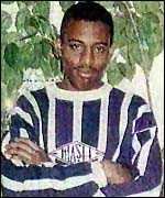 [ image: Stephen Lawrence was killed because of his colour]