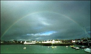 Rainbow over Isle of Whithorn