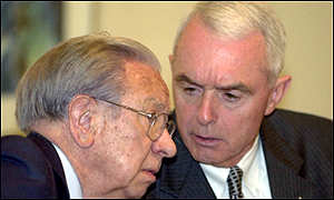 Juan Antonio Samaranch and Barry McCaffrey