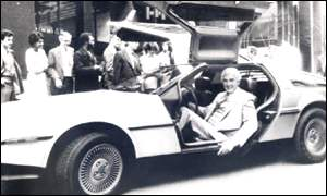 The gull-wing sports car John DeLorean built near Belfast