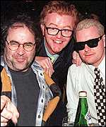 Danny Baker, Chris Evans and Paul Gascoigne