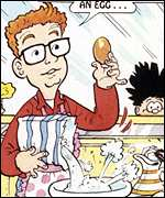 Chris Evans in The Beano