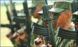 Colombian troops