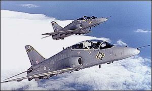 Hawk fighter jets