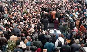 BBC News   EUROPE   In pictures: Arkan is buried