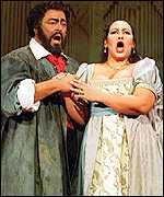 Luciano Pavarotti and Ines Salazar