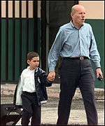 Elian outside school