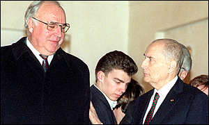 Kohl and Mitterand worked for a united Germany