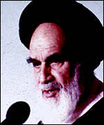 Ayatollah Khomeini, leader of the Iranian Revolution, had a tense relationship with the west