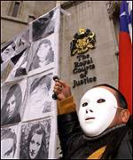 Mask against pinochet