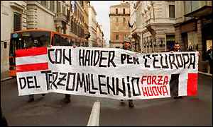 Haider supporters take their views to Rome