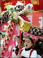 Dragon dance in Beijiing
